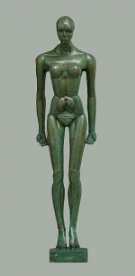 Patinated bronze figure. 2014. 53cm.